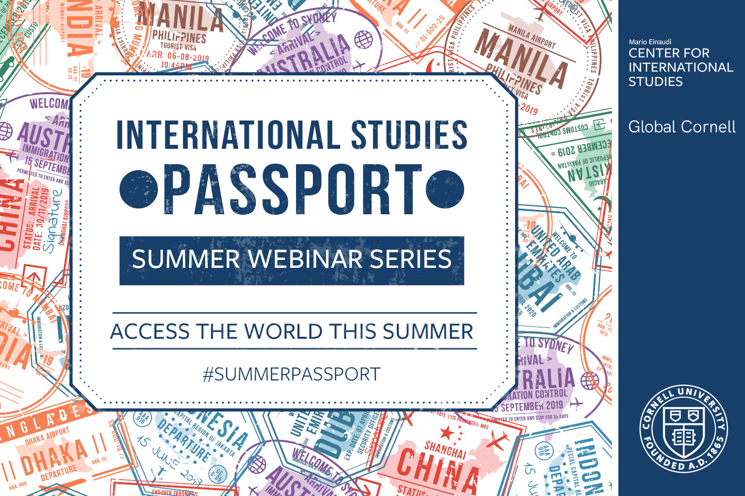 International Studies Passport #SummerPassport webinar poster